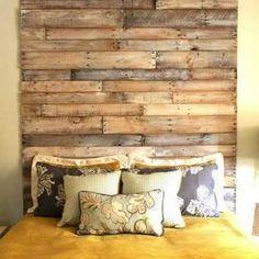 fabriquer tete de lit avec bois de palette