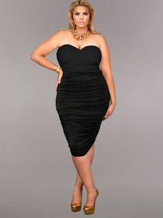 Plus size club dresses black