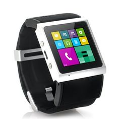 "Android Smart Watch ""V Strike"" - 1.54 Inch Screen, 1GHz Dual Core CPU, Bluetooth 4.0, GPS, Wi-Fi (Black) - Mobile Shop"