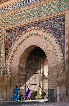 An Alaouites period gate, Morocco