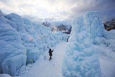 Snowy Lake Shikotsu, in Hokkaido