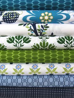 modern blooms fabric navy green - Google Search