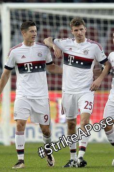 Lewandowski and Müller.  Bayern's Next Top Model.
