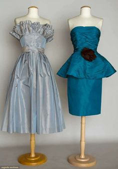 Augusta Auctions, April 17, 2013 - NYC, Lot 100: Two Victor Costa Party Dresses, 1980s