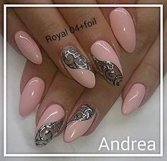 52 Cute and Lovely Pink Nails Designs to Look Romantic and Girly - Nail Designs Get Nails, Fancy Nails, Pink Nails, Hair And Nails, Black Nails, Beautiful Nail Art, Gorgeous Nails, Pretty Nails, Uñas Color Coral