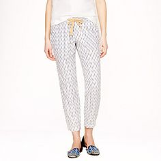 Arrow ikat pull-on pant by: J.Crew