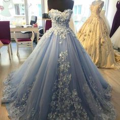 lace embroidery sweetheart light blue tulle ball gowns prom dresses 2018 elegant engagement dress for wedding Blue Ball Gowns, Tulle Ball Gown, Ball Gowns Prom, Ball Gown Dresses, Tulle Lace, Satin Tulle, Dress Lace, Ball Gowns Evening, Flapper Dresses