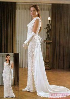 vestidos de noiva de croche 2