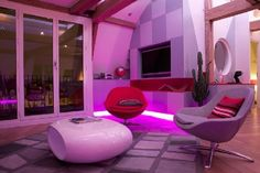 Futuristic Home Decor. Or a Virgin America waiting lounge?