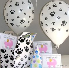 All the supplies you'll need to throw the perfect puppy shower!