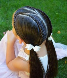 Trendy braids for kids ponytail girl hairstyles ideas Girls Hairdos, Baby Girl Hairstyles, Pretty Hairstyles, Braided Hairstyles, Wedding Hairstyles, Updo Hairstyle, Braided Updo, Childrens Hairstyles, Latest Hairstyles