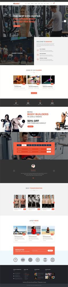 Boosted is a wonderful #PSD template for #webdev #gym, fitness and yoga center websites download now➩ https://themeforest.net/item/boosted-gym-fitness-yoga-psd-template/19365380?ref=Datasata