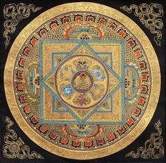 gardenofthefareast: Mandala of the Buddha with Auspicious Symbols