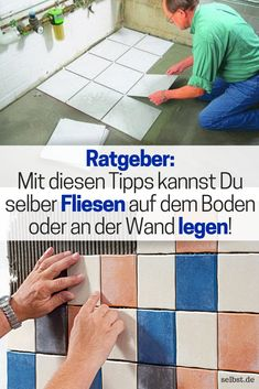 Grundwissen Fliesen legen In our basic knowledge we explain to you all the necessary steps, so that How To Lay Tile, Diy Kitchen Remodel, Diy Kitchen Storage, Pose, Woodworking Crafts, Decoration, Home Remodeling, Improve Yourself, Martini