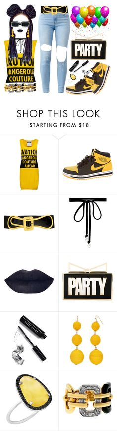 """Chris Brown- PARTY"" by texasradiance ❤ liked on Polyvore featuring Moschino, NIKE, Marni, Joomi Lim, Sara Battaglia, Bobbi Brown Cosmetics, Christina Debs, Chanel, Gucci and party"