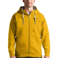 Oregon Ducks Antigua Victory Full-Zip Hoodie - Gold