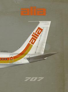 Royal Jordanian, ALIA Airlines 707, by Rick Aero www.Facebook.com/VintageAirliners www.VintageAirliners.com