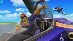 Capt. Falcon in the Blue Falcon - Super Smash Bros. for Nintendo 3DS / Wii U