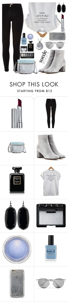 """""""Untitled #293"""" by gina-cremont ❤ liked on Polyvore featuring By Terry, River Island, Gianvito Rossi, Chanel, Kendra Scott, NARS Cosmetics, MAC Cosmetics, Lauren B. Beauty, Agent 18 and Prada"""