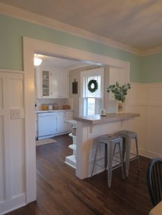 Kitchen Remodel On A Budget, Kitchen Remodel On A Budget, Kitchen Remodel  On A Budget   Opened Wall To Dining Room And Added A Bar; Added Tongue And  Groove ...