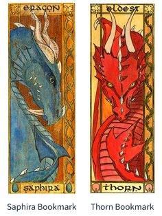 Beautiful Saphira and Thorn bookmarks Dragon Knight, Dragon Rider, Inheritance Cycle, Christopher Paolini, Dragon Series, Fanart, Got Dragons, Dragon Art, How To Train Your Dragon