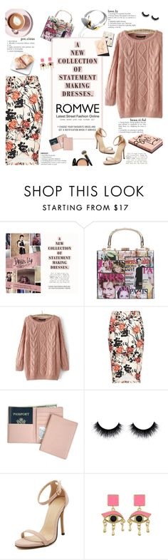 """Loose Pink Sweater - ROMWE"" by mymilla ❤ liked on Polyvore featuring Topshop, Garance Doré, Martha Stewart, Royce Leather, It Cosmetics, women's clothing, women, female, woman and misses"