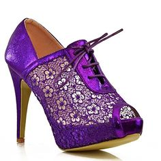 Womens Ladies Stiletto Lace Up Ankle Boots Peep Toe Heels Shoe Booties NEW Size[Purple,UK 3 / EU 36 / US 5 / AUS 4] FantasyShoes http://www.amazon.com/dp/B00NROHZK4/ref=cm_sw_r_pi_dp_wI1hub0V29EGC