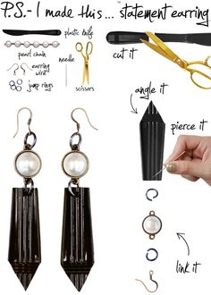 P.S.- I made this...Statement Earring #PSIMADETHIS #DIY #JEWELRY
