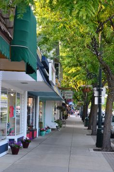 Downtown Charlevoix, MI. Great shopping in downtown Charlevoix, with several art galleries and souvenir shops.