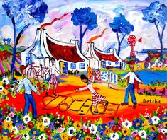 Artwork of Portchie exhibited at Robertson Art Gallery. Original art of more than 60 top South African Artists - Since African Art Paintings, South African Artists, Whimsical Art, Naive, Folk Art, Artworks, Original Art, Art Gallery, Presents