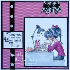 LOTV - Jasmine Studying by Marianne Fisher Teen Girl Birthday, Girl Birthday Cards, Birthday Cards For Women, Scrapbook Cards, Scrapbooking, Create Birthday Card, Hobby House, Craftwork Cards, Valley Girls