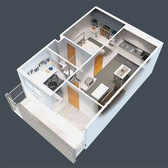 Studio Apartment Floor Plans 3d shapwee