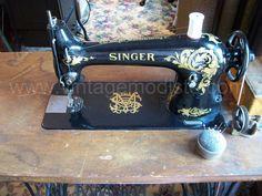 My restored Singer 31-15 industrial treadle sewing machine head.