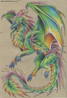 Wings of Fire Fanart - Bottom Queen Glory RainWing -Top Deathbringer Nightwing Here is the Finished product - Fantasy Drawings, Fantasy Kunst, Fantasy Art, Wings Of Fire Dragons, Cute Dragons, Animal Drawings, Art Drawings, Dragon Drawings, Fire Drawing