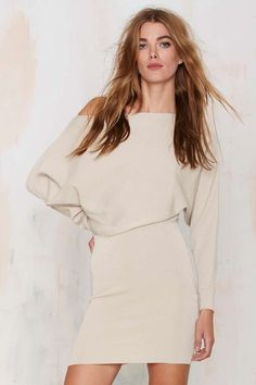 Sonya Off-the-Shoulder Knit Dress