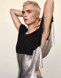 """"""" Cara Delevingne photographed by Alexandra Nataf for The Edit Magazine (September """" Vs Fashion Shows, Look Fashion, Fashion Models, Fashion Tips, Adriana Lima Victoria Secret, Victoria Secret Fashion, Cara Delevingne Photoshoot, Angry Girl, Pixie Crop"""