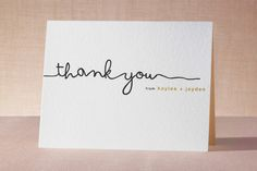 The Happy Couple Letterpress Thank You Cards by R studio at minted.com