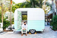 groom sitting in doorway of traveling bar trailer for wedding #paradisecove #orlandowedding #weddingday #groom Wedding Groom, Wedding Day, Groom And Groomsmen Looks, Washington Park, Paradise Cove, Orlando Wedding, Groom Attire, Doorway, Maid Of Honor