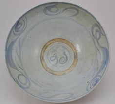 Annamese or Swatow Chinese Pottery Blue and White Large Punch Bowl circa 1700 Chinese Antiques, Philippines, Punch, Oriental, Porcelain, Blue And White, Pottery, Ceramics, Tableware