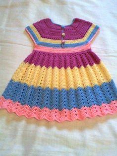 New Crochet Baby Girl Booties Children Ideas Crochet Baby Dress Pattern, Baby Knitting Patterns, Baby Patterns, Knit Crochet, Knit Baby Dress, Dress Patterns, Crochet Patterns, Crochet Toddler, Baby Girl Crochet