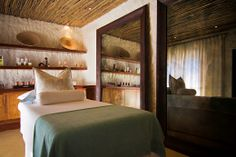 The beautiful new private therapy suite at #Tswalu's refurbished safari #spa