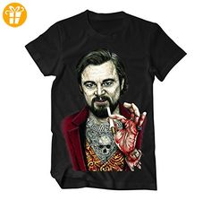 Calvin Candie Zeichnung DiCaprio, tätowiert T-Shirt Large Schwarz (*Partner-Link)