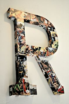 Adorable Modge Podge Comic Book Letters!!! So Cute in a Little Boys Room!!!