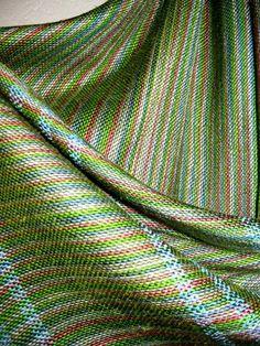 Handwoven Silk Wrap Multicolor and Green Accessories by tisserande, $220.00
