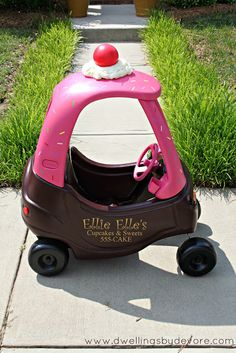 The MOST genius garage sale makeover I've EVER seen!!! @Ramiro Croce Garcia By DeVore: Cozy Coupe Makeover