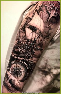 amazing and best arm tattoo design ideas for 2019 part 12 - pirates . - amazing and best arm tattoo design ideas for 2019 part 12 – pirate tattoo – - 12 Tattoos, Girl Arm Tattoos, Best Sleeve Tattoos, Arm Tattoos For Women, Tattoo Sleeve Designs, Tattoo Designs Men, Hand Tattoos, Tattoos For Guys, Tattoo Women