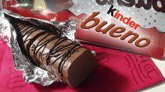 Kinder bueno, solo necesitas Chocolate Galletas de barquillo y Praline de Avellanas