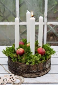 Scandi advent wreath