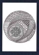 (Pigmenttusche, Graphit; 21×14,7cm) -