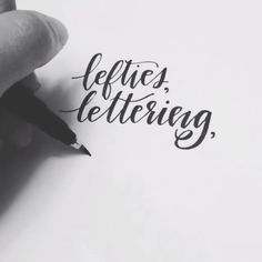 lefty lettering - renmadecalligraphy